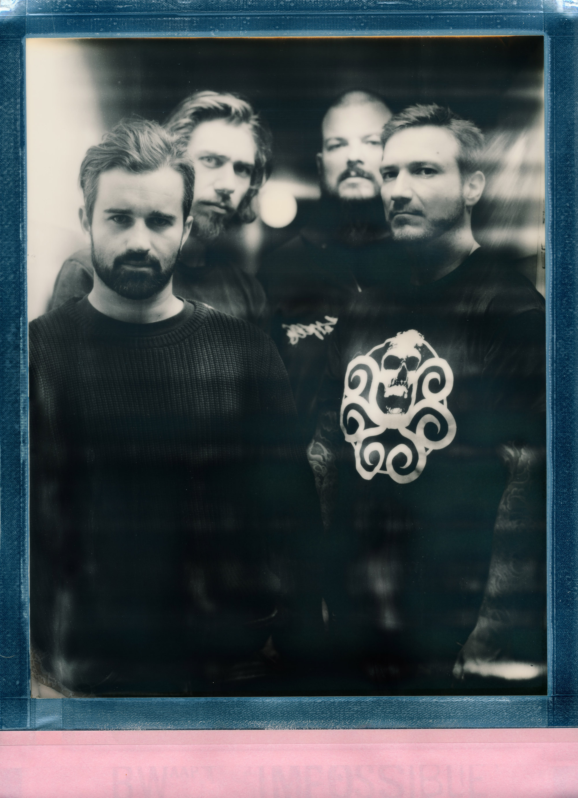 Band portrait for Swiss metal heads HEROD (Sinar P2 + 36cm Heliar + 8x10 Impossible Silver Shade)